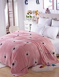 Недорогие -Коралловый флис, Активный краситель Геометрический принт Хлопок / полиэфир одеяла