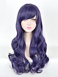 abordables -Perruque Synthétique Bouclé Partie latérale Cheveux Synthétiques 28inch Cosplay / Soirée Violet Perruque Femme Court Sans bonnet