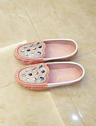 abordables -Chica Zapatos PU Primavera verano Confort Bailarinas Paseo Pedrería / Purpurina para Adolescente Blanco / Rosa