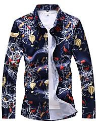 Недорогие -Муж. С принтом Рубашка Классический Животное