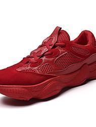 cheap -Men's Light Soles Mesh / PU(Polyurethane) Summer Comfort Athletic Shoes Running Shoes / Tennis Shoes Black / Gray / Dark Red