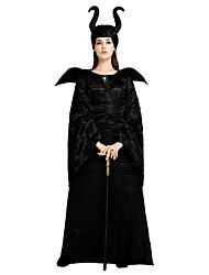 Недорогие -ведьма Костюм Жен. Хэллоуин Карнавал Маскарад Фестиваль / праздник Костюмы на Хэллоуин Инвентарь Черный Однотонный Halloween Хэллоуин