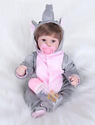 baratos -FeelWind Bonecas Reborn Bebês Meninas 16 polegada realista, Nozes vedadas e seladas, Olhos Castanhos de Implantação Artificial de Criança Para Meninas Dom