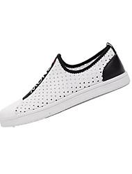 cheap -Men's Knit / Elastic Fabric Summer Comfort Loafers & Slip-Ons White / Black