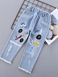 preiswerte -Kinder Mädchen Druck Jeans