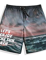 cheap -Men's Swim Shorts Ultra Light (UL), Quick Dry, Breathable POLY Swimwear Beach Wear Board Shorts Stars Surfing / Beach / Watersports