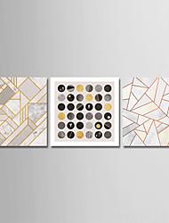 billiga -Tryck Stretchad Kanvastryck - Former / Geometri och pilar Moderna