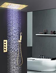 abordables -Robinet de douche - Moderne Ti-PVD Système de douche Soupape céramique