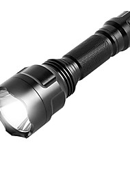 cheap -ismartdigi i-8T6 LED Flashlight LED Flashlights / Torch Portable / Anti-skidding Camping / Hiking / Caving / Everyday Use / Hunting Black