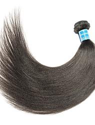 Недорогие -1 комплект Бразильские волосы / Бирманские волосы Естественные прямые Не подвергавшиеся окрашиванию Человека ткет Волосы 8-28 дюймовый Нейтральный Ткет человеческих волос Лучшее качество / 100