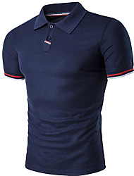 cheap -Men's Basic Polo - Solid Colored