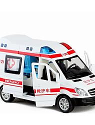 Недорогие -Игрушечные машинки Машина скорой помощи Автомобиль Новый дизайн Металлический сплав Все Детские / Для подростков Подарок 1 pcs