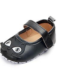 abordables -Fille Chaussures Polyuréthane Eté Confort Ballerines Scotch Magique pour Bébé Café / Argent / Rose