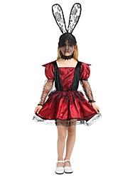 Недорогие -ведьма Костюм Девочки Хэллоуин Карнавал День детей Фестиваль / праздник Костюмы на Хэллоуин Инвентарь Цвет фуксии Однотонный Halloween Хэллоуин