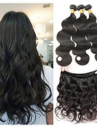 baratos -3 pacotes Cabelo Indiano Onda de Corpo Cabelo Humano Extensor / Tecer 8-30 polegada Tramas de cabelo humano Melhor qualidade / novo / Nova chegada Extensões de cabelo humano Mulheres
