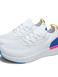 cheap -Women's Shoes Knit Summer Comfort / Vulcanized Shoes Athletic Shoes Running Shoes / Tennis Shoes Flat Heel Round Toe Black / Blue / Pink