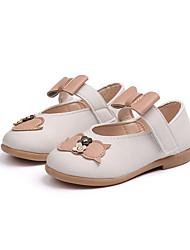 cheap -Girls' Shoes PU(Polyurethane) Fall & Winter Flower Girl Shoes Flats Walking Shoes Buckle for Kids White / Beige / Brown