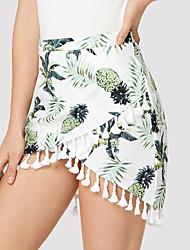 abordables -Mujer Básico Corte Bodycon Faldas Fruta