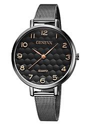 baratos -Geneva Mulheres Relógio de Pulso Chinês Novo Design / Relógio Casual / Legal Lega Banda Casual / Fashion Preta / Prata / Um ano