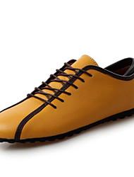 abordables -Hombre Zapatos formales Cuero de Napa Primavera / Verano Oxfords Blanco / Amarillo / Azul