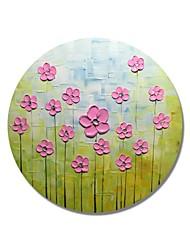 abordables -Pintura al óleo pintada a colgar Pintada a mano - Floral / Botánico Contemporáneo / Modern Lona