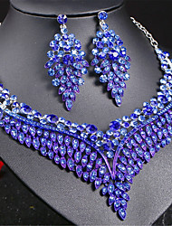 cheap -Women's Thick Chain / Hollow Jewelry Set - Love, Blessed Luxury, European, Elegant Include Drop Earrings / Choker Necklace / Statement Necklace Rainbow / Red / Blue For Wedding / Party