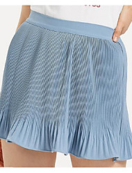 cheap -Women's Active A Line Skirts - Solid Colored Blue & White