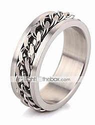 cheap -Men's Stylish Link / Chain Band Ring - Stainless Creative Stylish, Simple, European 6 / 7 / 8 / 9 Silver For Daily Street
