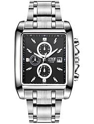 Недорогие -BOSCK Муж. Наручные часы Китайский Календарь / Защита от влаги / Новый дизайн Нержавеющая сталь Группа Роскошь / Мода Серебристый металл
