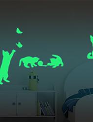 Недорогие -Наклейки для выключателя света - Простые наклейки / Светящиеся наклейки Halloween / Праздник В помещении / Детская