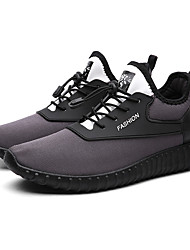 cheap -Men's Knit Spring & Summer Comfort Athletic Shoes Running Shoes Black / Gray / Black / White