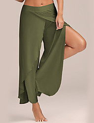 cheap -Women's Cotton Loose Wide Leg / Chinos Pants - Solid Colored High Waist / Beach