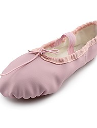 abordables -Fille Chaussures de Ballet Cuir Plate Talon Plat Chaussures de danse Rose