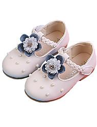 economico -Da ragazza Scarpe PU (Poliuretano) Primavera estate Scarpe da cerimonia per bambine Ballerine Footing Floreale per Bambino Beige / Rosa