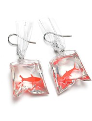 cheap -Women's Sculpture Drop Earrings - Resin Fish Cartoon, Trendy Silver For Party / Evening / Holiday