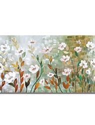 cheap -STYLEDECOR Modern Hand Painted Abstract Gradient Color Background with White Flowers Oil Painting on Canvas
