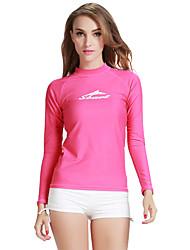 cheap -SBART Women's Diving Rash Guard Quick Dry, Anatomic Design, Breathable Spandex Long Sleeve Swimwear Beach Wear Sun Shirt Fashion Diving / Stretchy