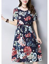 cheap -women's going out sheath dress above knee / knee-length