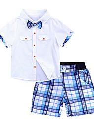 Недорогие -Дети Мальчики Тигр Пэчворк С короткими рукавами Набор одежды