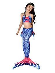cheap -The Little Mermaid Bikini / Costume Girls' Halloween / Carnival Festival / Holiday Halloween Costumes Ink Blue Mermaid Vintage