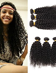 cheap -Malaysian Hair Curly Cosplay Suits / Headpiece / Natural Color Hair Weaves 4 Bundles 8-28 inch Human Hair Weaves Soft / New Arrival / Hot Sale Natural Black Human Hair Extensions Women's