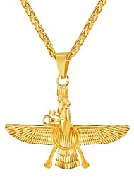 preiswerte -Herrn Lang Anhängerketten - Edelstahl Modisch Gold, Schwarz, Silber 55 cm Modische Halsketten 1pc Für Geschenk, Alltag