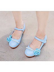cheap -Girls' Shoes Faux Leather Spring / Fall Comfort / Flower Girl Shoes Flats for Red / Pink / Light Blue
