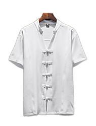 Недорогие -мужская рубашка - сплошная цветная шея