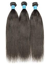 Недорогие -3 Связки Бразильские волосы Естественные прямые 10A Не подвергавшиеся окрашиванию Человека ткет Волосы Плетение 8-28 дюймовый Нейтральный Ткет человеческих волос Лучшее качество 100% девственница