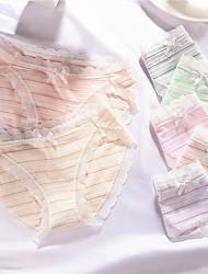 cheap -Women's Shorties & Boyshorts Panties Striped Mid Waist