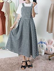 abordables -Mujer Conjunto - Cuadrícula Vestidos