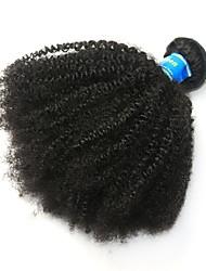 Недорогие -1 комплект Бразильские волосы Афро Квинки 10A Не подвергавшиеся окрашиванию Человека ткет Волосы Afro Kinky плетенки 8-26 дюймовый Нейтральный Ткет человеческих волос Лучшее качество 100% девственница