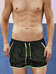 cheap -Men's Bottoms - Color Block Lace up Swim Trunk