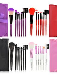 baratos -7 pcs Pincéis de maquiagem Profissional Conjuntos de pincel Escova de Fibra Artificial / Escova de Nailom Amiga-do-Ambiente / Profissional / Macio De madeira / bambu